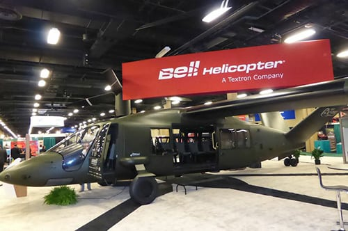 Bell Helicopter V-280 on display at Quad A's summit in 2017.