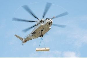 The Sikorsky CH-53 King Stallion lifts a 27,000 pound external load. (PRNewsFoto/Lockheed Martin)