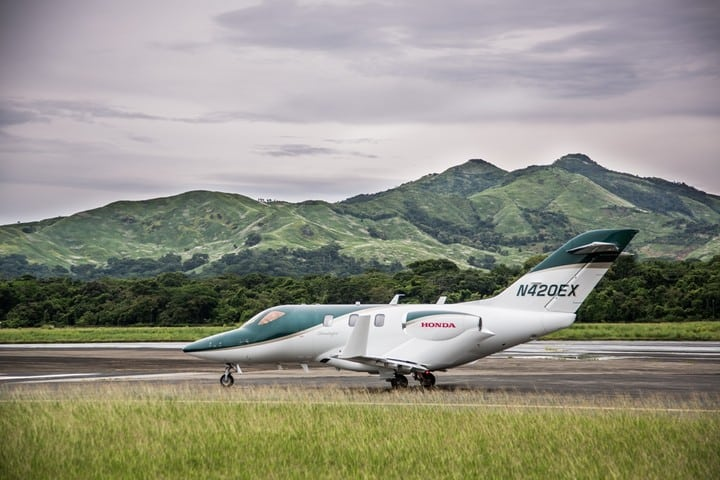 HondaJet in Panama as part of the Latin American demonstration tour