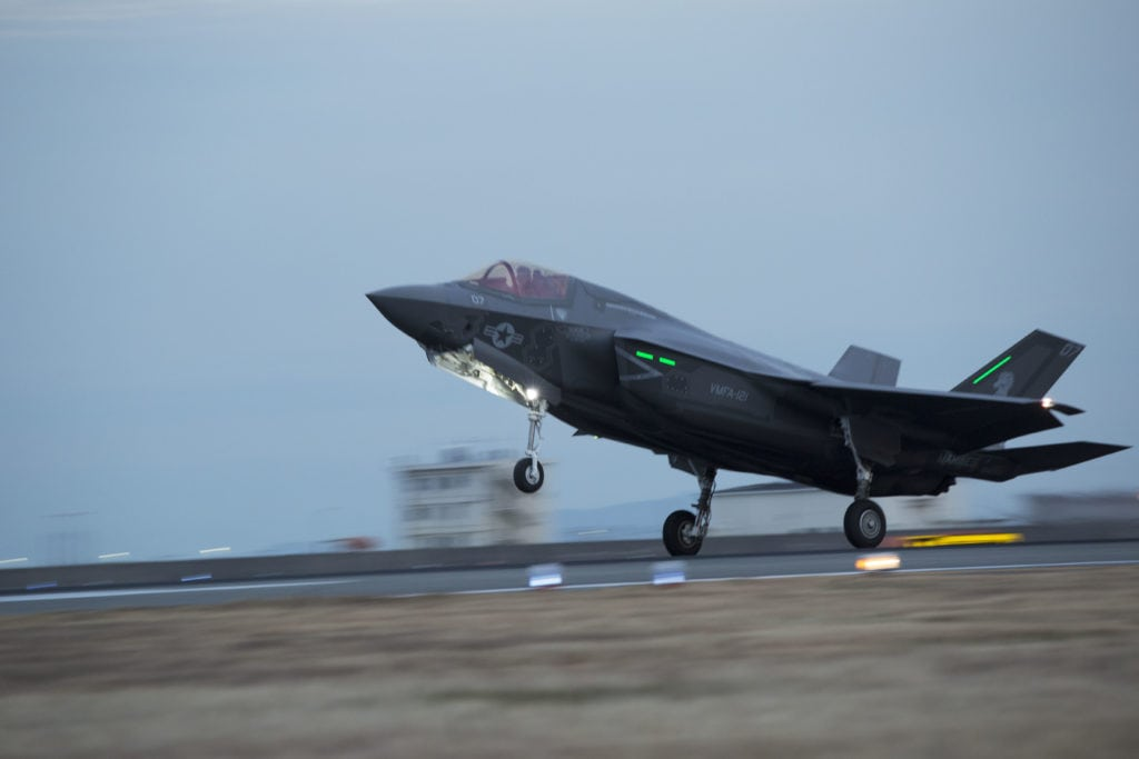 F-35B Lightning II strikes Iwakuni