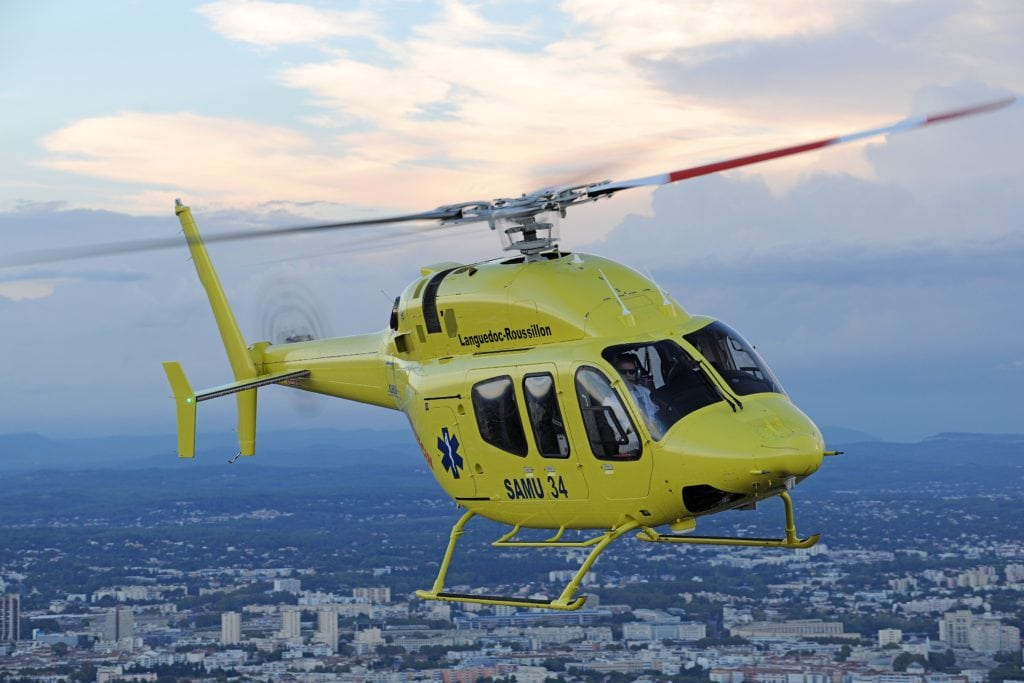 Customers can opt for the Bell 429 increased gross weight kit, which adds 500 pounds of internal gross weight. Photo courtesy of Bell Helicopter.