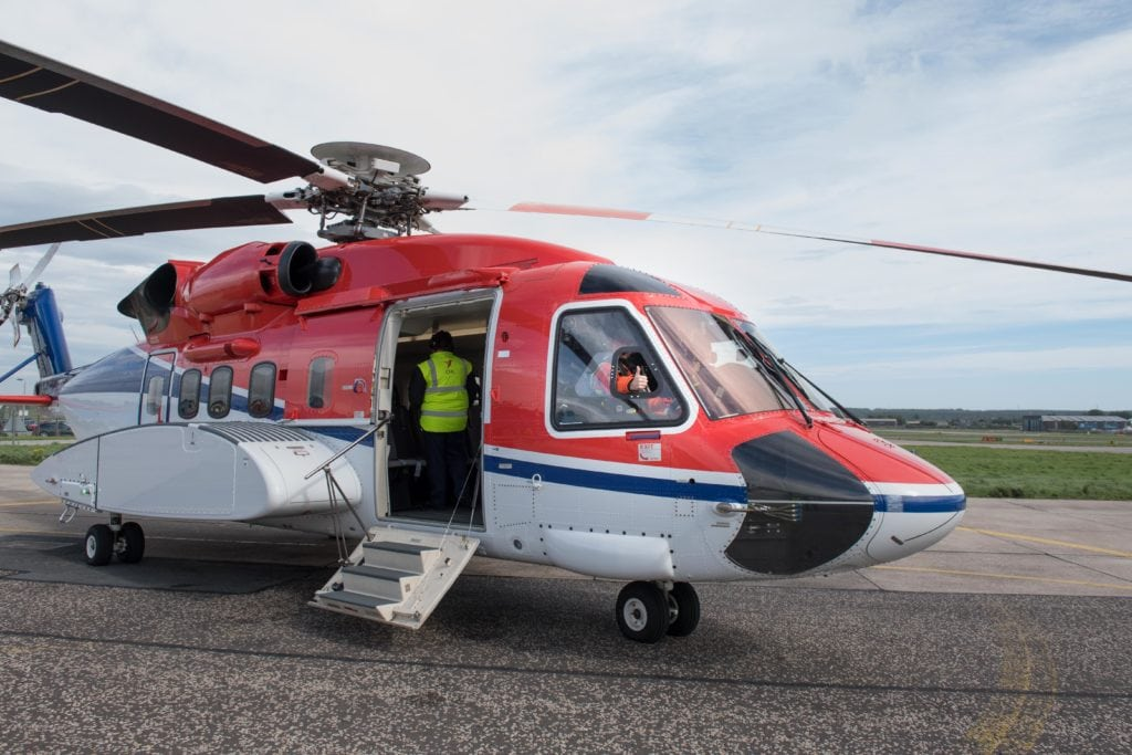 Aberdeen, Monday 11th September 2016 First flight to the Statoil Mariner Platform Departed from CHC Helicopter Base at Aberdeen Heliport pn Monday 11th September 2016 shortly after 12.30 PM. Picture by Michal Wachucik / Abermedia