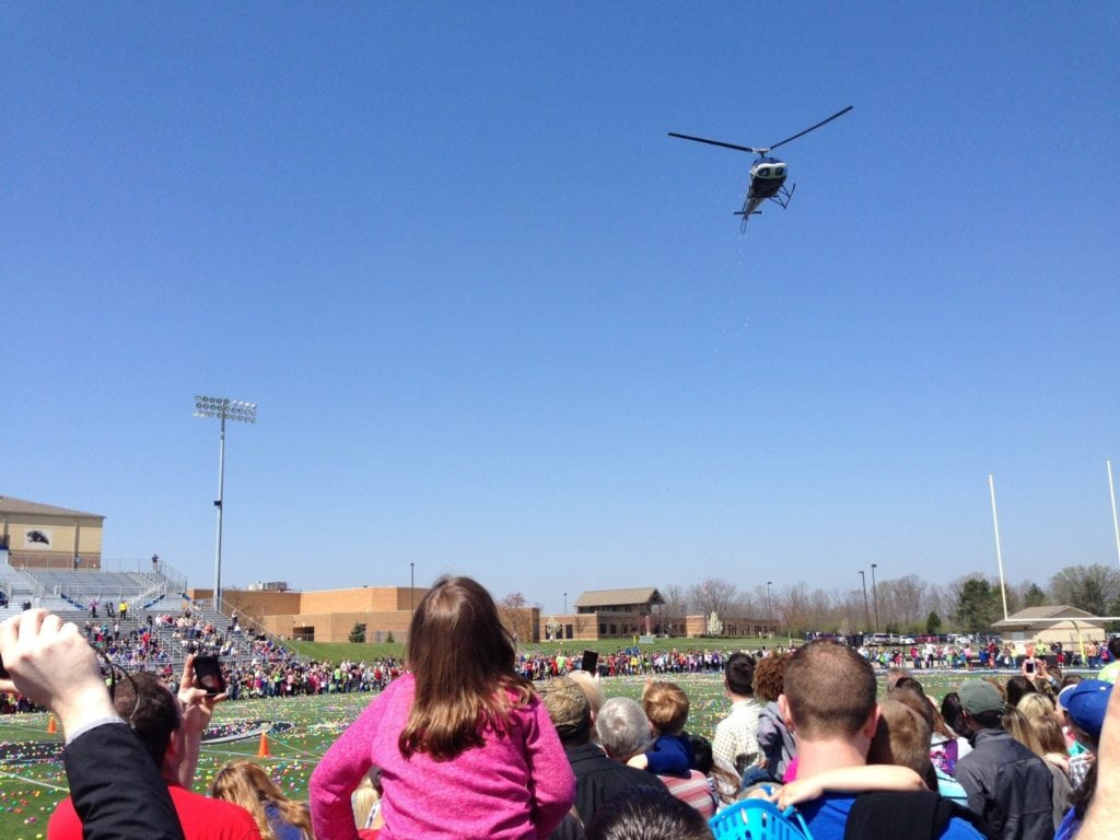 Last year, Real Life Church organized an Easter egg drop at Springboro High School in Ohio. Photo by Amused 79
