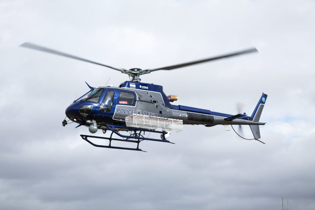 CONTROP iSky-50HD Payload on new Israel Police Helicopter