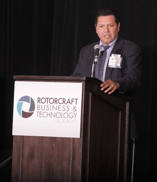 FAA's Jorge Castillo presents at the Rotorcraft Business and Technology Summit. Photo by Ed Garza