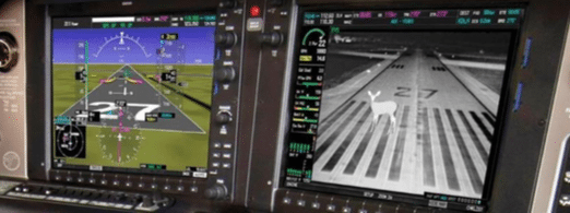 Max-Viz 2300 Enhanced Vision System on a fixed-wing platform. Photo courtesy of Astronics