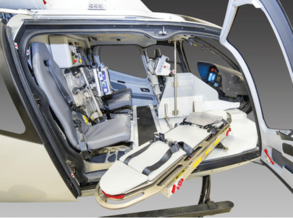 LifePort medical interior for the H130 aircraft. Photo courtesy of LifePort