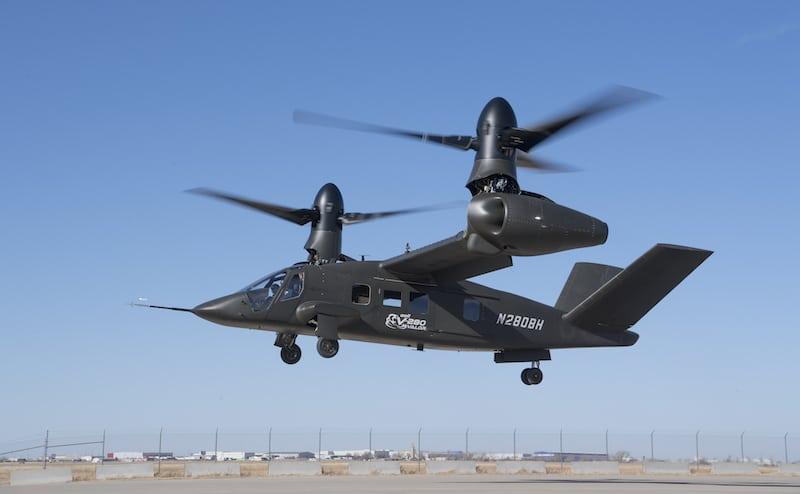 Bell Helicopter's V-280 takes its first flight in Amarillo, Texas. Photo courtesy of Bell Helicopter.