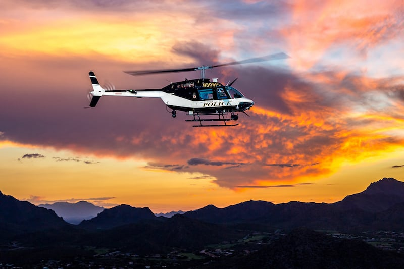 Tuscon Police Department Bell Helicopter Jet Ranger 206B3. Photo courtesy of Able Aerospace Services