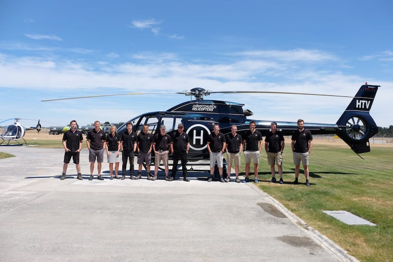 Christchurch Helicopters Team Photo