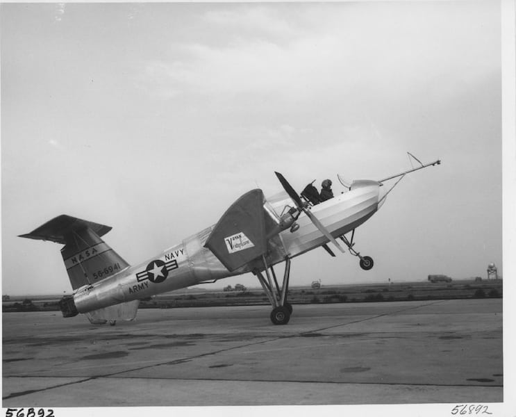 Ryan VZ-3RY Vertiplane C. 1958. Photo courtesy of the San Diego Air and Space Museum Archive