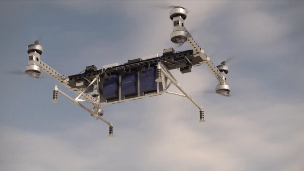 Boeing unveiled its Cargo Aerial Vehicle. Image courtesy of Boeing
