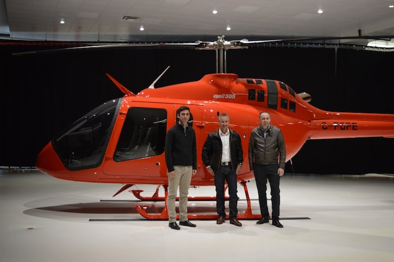 Nautilus Aviation formally took delivery of the aircraft last year at Bell Helicopter's Mirabel, Canada, facility. Photo courtesy of Bell Helicopter