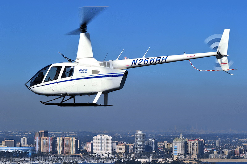 Robinson has added wire strike protection provisions to its R66 options list. Photo courtesy of Robinson Helicopter Co.