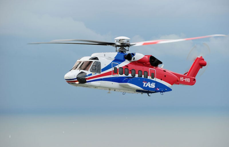 Thai Aviation Services S-92 helicopter aircrews will now train at the CAE Brunei MPTC. Photo courtesy of CAE