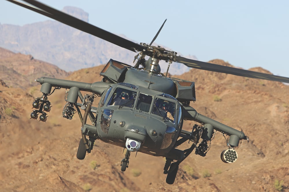 Sikorsky H-60M Armed BLACK HAWK helicopter operated by UAE