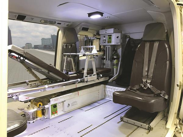 United Rotorcraft interior on Leonardo AW169