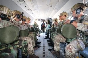 SOF on a mission in Hungarian Mil-MI-17