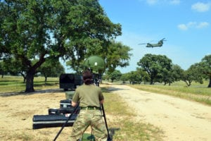 Testing effectiveness Mallina (helicopter) detector system