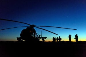 Nightflight exercises (NVG) were part of the HB18 exercise