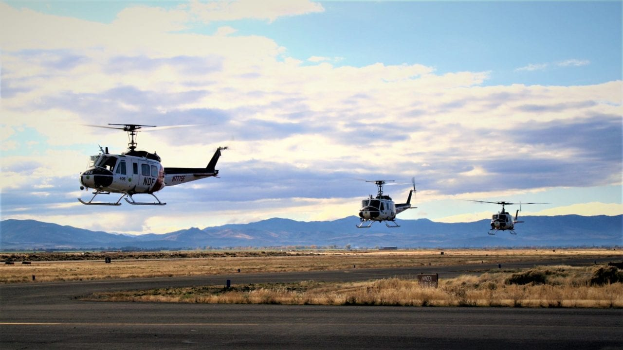 Nevada Department of Forestry Bell Hueys
