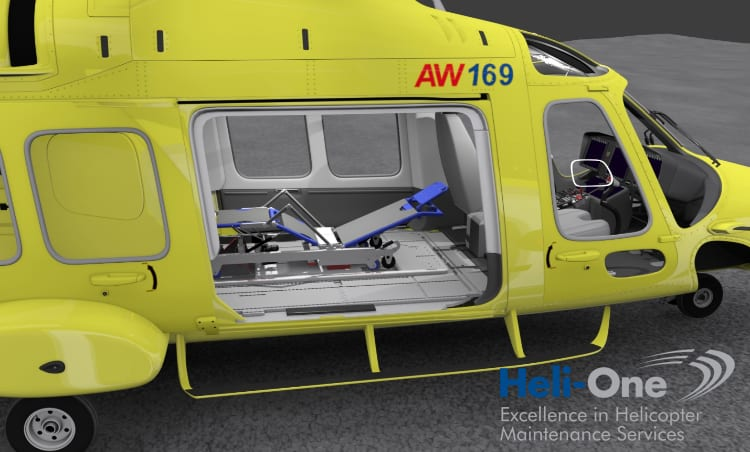 Heli-One AW169 Stretcher Rendering