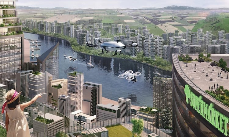 Urban air mobility concept of operations. Photo: Airbus