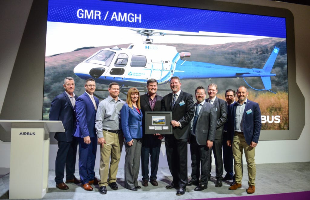 Airbus and Air medical Group Holdings announce a deal for 21 H125 and H135 aircraft.