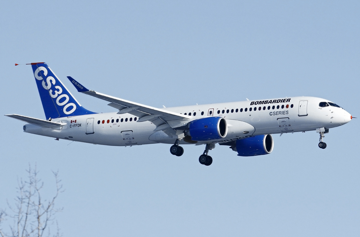 Bombardier's CS300, now known as the Airbus A220.