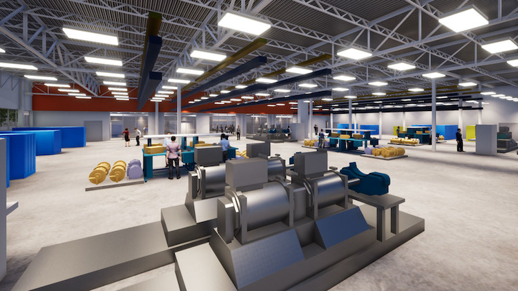 A new lab being built by Collins Aerospace will design and test electric aircraft propulsion technology. Photo: Collins Aerospace