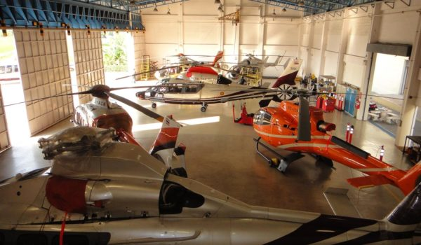 Inside the hangar. (Airbus Helicopters)