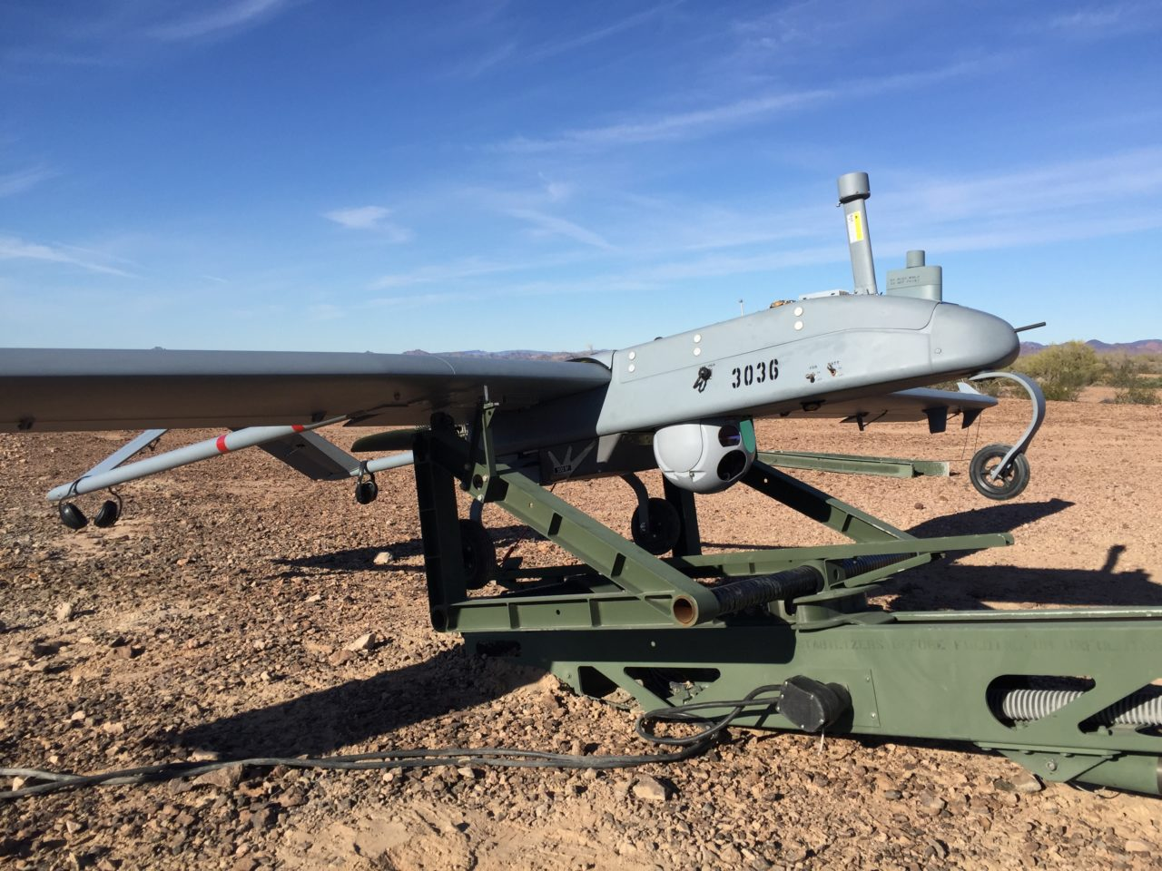 Textron's RQ-7B Shadow tactical unmanned aircraft system. (Textron)