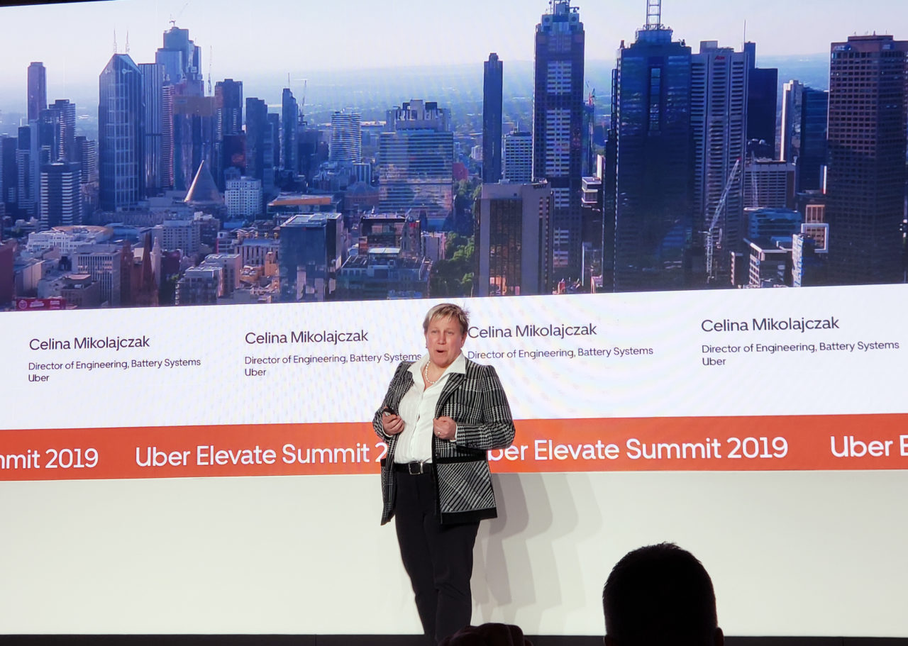 Uber's Celina Mikolajczak onstage at the Elevate summit. (Nick Zazulia/AVI)